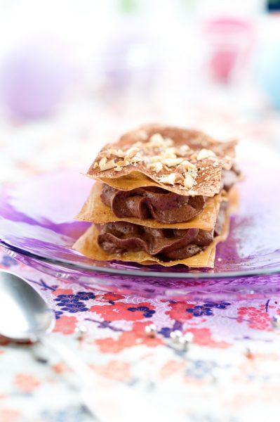 mille feuille mousse chocolat fleur de sel