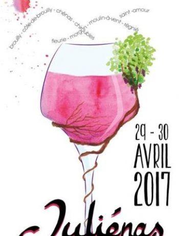 julienas affiche Beaujolais Printemps 2017