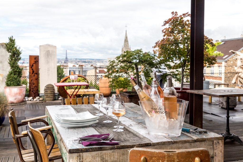 Restaurant la Belleviloise et rosé de Provence